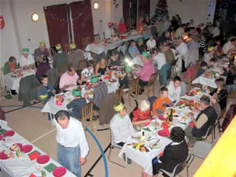 christmas dinner at the hall